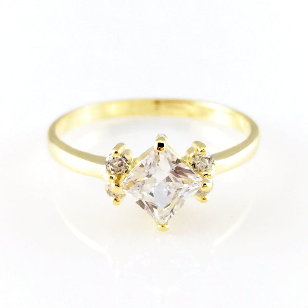 Shiny Crystal Ring, Rings - www.thestoneflower.com