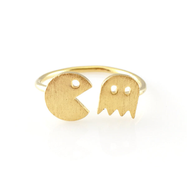 Pac-man Open Ring, Rings - www.thestoneflower.com