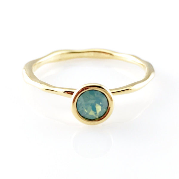 Pacific Opal Gold Ring, Rings - www.thestoneflower.com