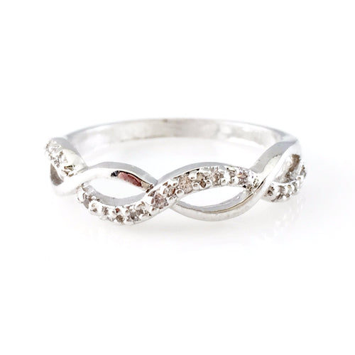 Infinity Silver Ring, Rings - www.thestoneflower.com