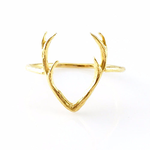 Deer Antler Ring, Rings - www.thestoneflower.com