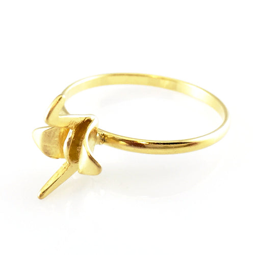 Bird Gold Ring, Rings - www.thestoneflower.com