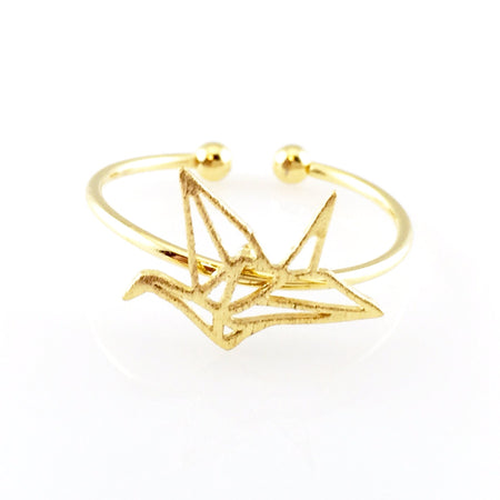 Gold Thunderbolt Open Ring