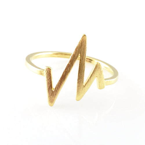 Gold Heartbeat Ring, Rings - www.thestoneflower.com