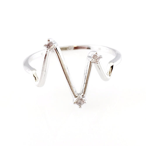 Silver Heartbeat Ring, Rings - www.thestoneflower.com