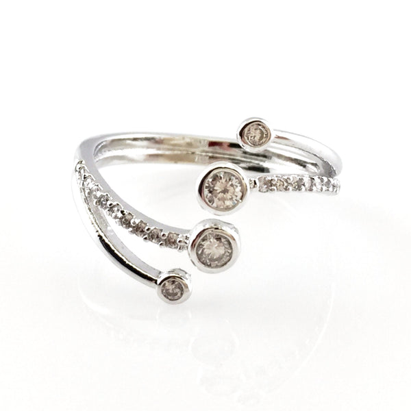 Round Crystals Ring, Rings - www.thestoneflower.com