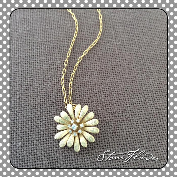 Golden Flower Charm, Charms - www.thestoneflower.com