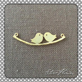 Love Birds Charm, Charms - www.thestoneflower.com