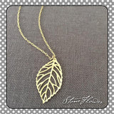 Filigree Gold Leaf Charm, Charms - www.thestoneflower.com