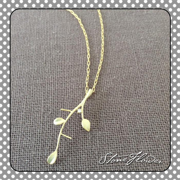 Olive Leaf Charm, Charms - www.thestoneflower.com