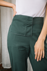 Tailored Pants with Detachable Apron Belt