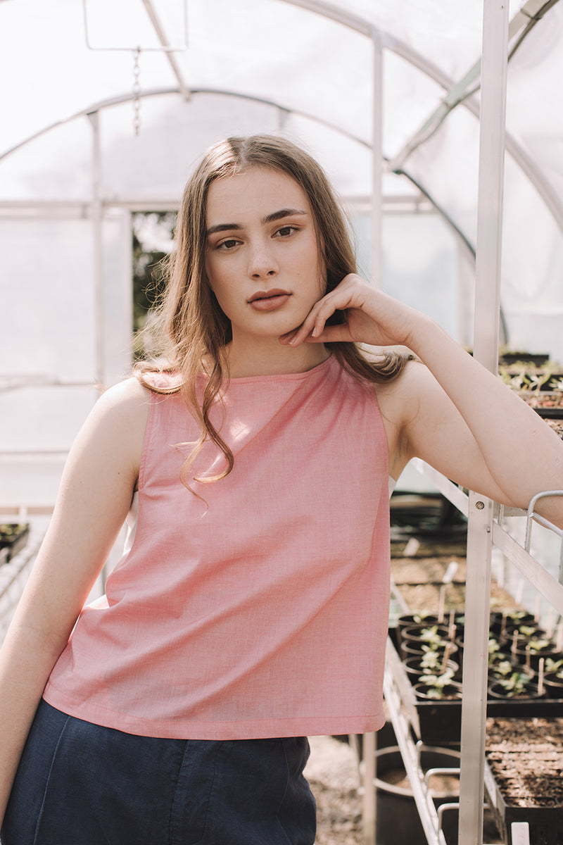 Organic Cotton Crop Overlap Top