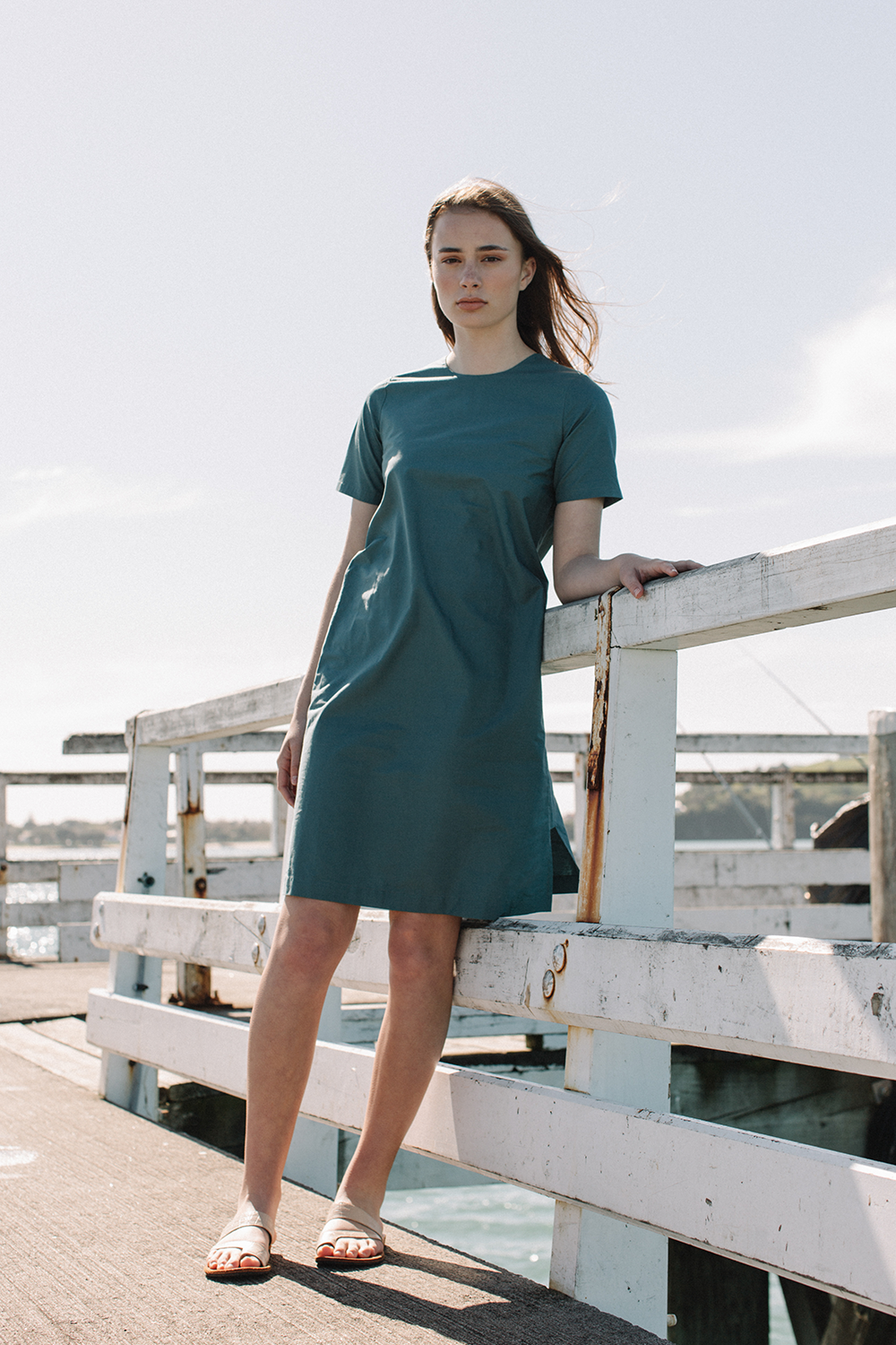 Crew Neck Sheath Dress
