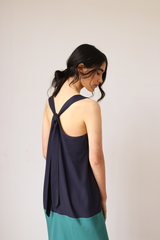 Tie-back Halter Dress