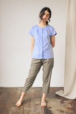 Organic Cotton Top with Double Back Yoke