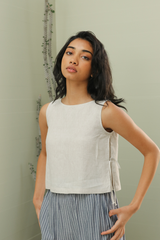 Linen Top with Side Tie