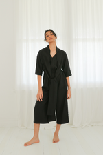 Jumpsuit with Neck Sash