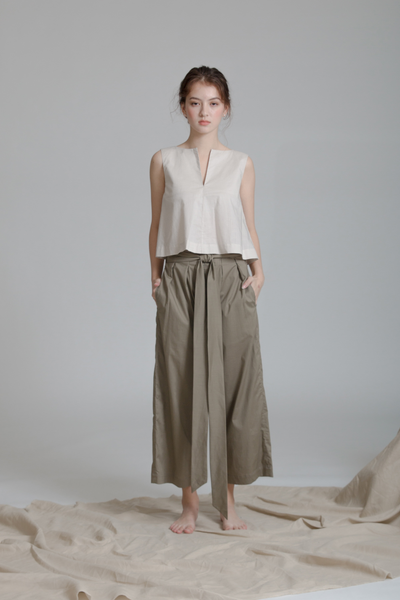 Organic Cotton Paper-bag Pants