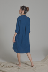Linen Relaxed Shirt Dress