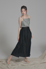 Draped Wraparound Skirt