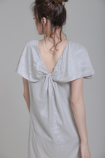 Draped Knot Back Dress