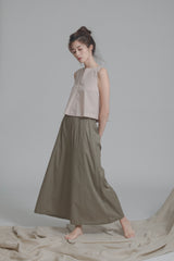 Organic Cotton Wide Leg Pants