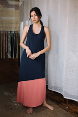 Tie-back Halter Maxi Dress