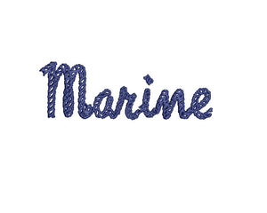 Marine embroidery font formats dst, exp, pes, jef and xxx, Sizes 1, 1.5 and 2 inches, instant download