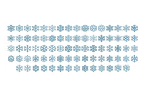 26 Christmas Snow Flakes embroidery designs bx (compatible with 17 machine file formats), dst, exp, pes, jef and xxx, Sizes 1, 1.5, 2 inches