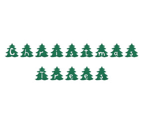 Christmas Trees (set #2) embroidery font formats dst, exp, pes, jef and xxx, Sizes 1, 1.5 and 2 inches, instant download