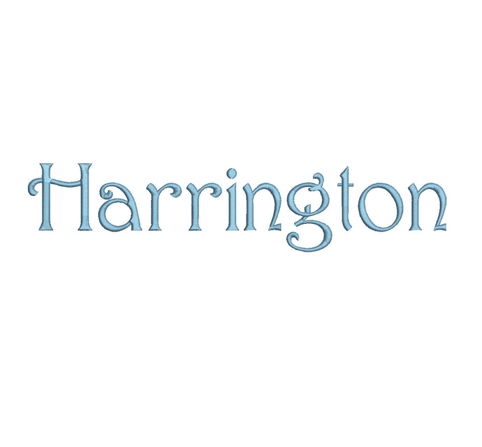 Harrington embroidery bx (compatible with 17 machine file formats), dst, exp, pes, jef and xxx, Sizes 1, 1.5, 2 inches