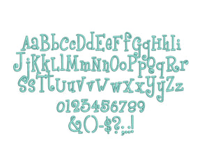 Boyz R Gross embroidery font bx (compatible with 17 machine file formats), dst, exp, pes, jef and xxx, Sizes 1, 1.5, 2 inches