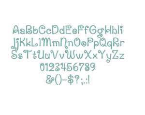 Penguin Attack embroidery font formats bx, dst, exp, pes, jef and xxx, Sizes 1, 1.5 and 2 inches, instant download