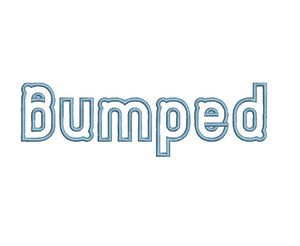 Bumped embroidery font formats dst, exp, pes, jef and xxx, Sizes 1, 1.5 and 2 inches, instant download
