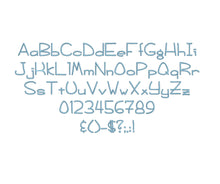 Foggy Bottom embroidery font formats dst, exp, pes, jef and xxx, Sizes 1, 1.5 and 2 inches, instant download