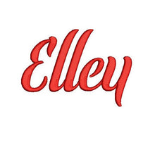 Elley embroidery font formats dst, exp, pes, jef and xxx, Sizes 1, 1.5 and 2 inches, instant download