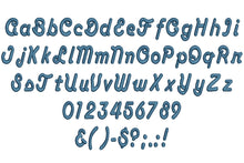 Anaconda embroidery font formats dst, exp, pes, jef and xxx, Sizes 1, 1.5 and 2 inches, instant download