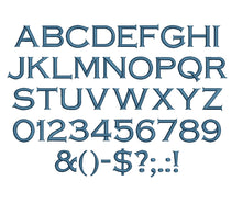 Copperplate embroidery font formats dst, exp, pes, jef and xxx, Sizes 1, 1.5 and 2 inches, instant download