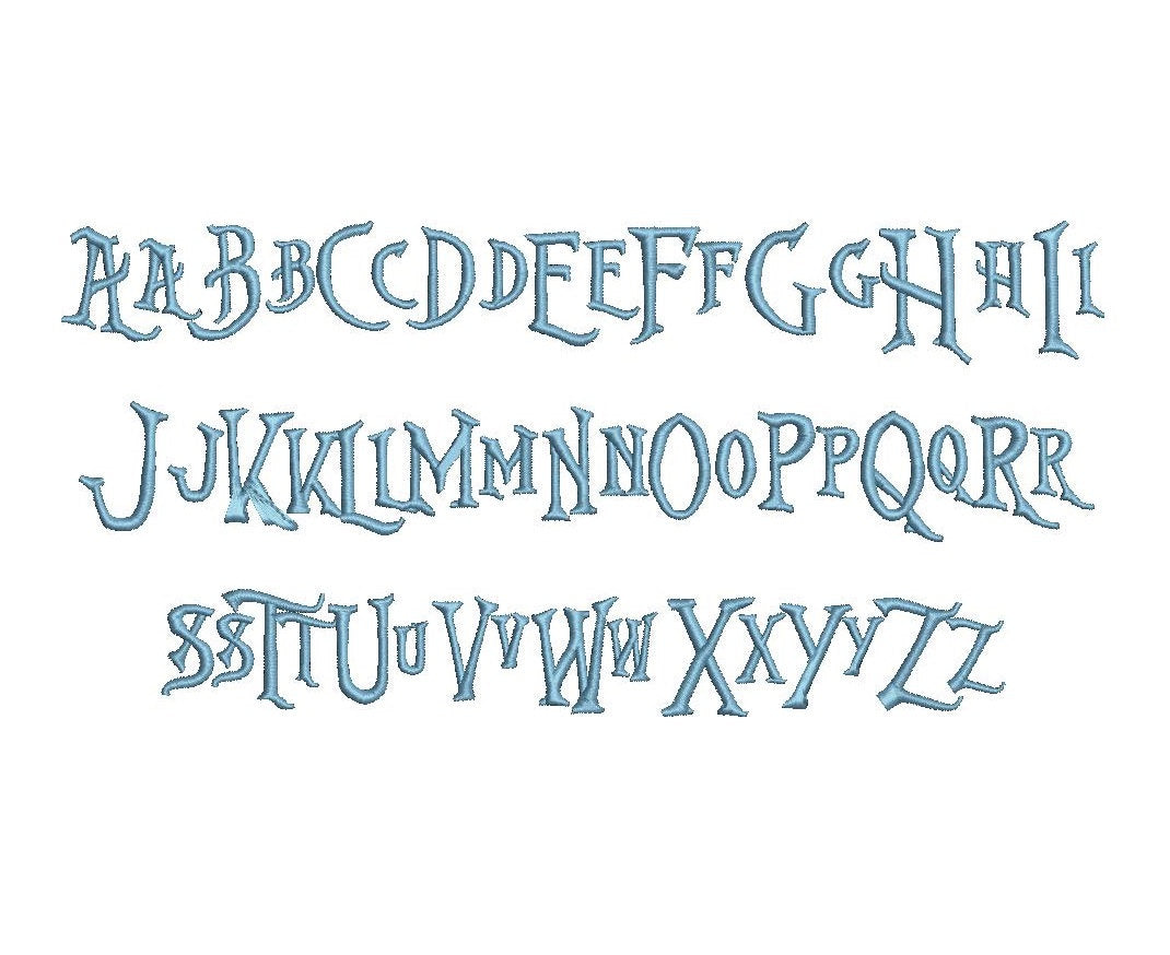 Nightmare Before Christmas embroidery font bx (compatible with 17 ...