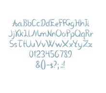 Vanlose embroidery font formats dst, exp, pes, jef and xxx, Sizes 1, 1.5 and 2 inches, instant download