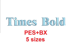 Times bold embroidery font formats bx (which converts to 17 machine formats), + pes, Sizes 0.25 (1/4), 0.50 (1/2), 1, 1.5 and 2""