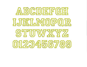 College Appliqué embroidery font PES format 13 Sizes instant download