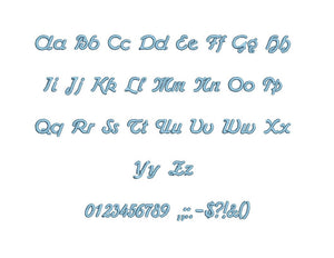 Catarman embroidery font formats bx (which converts to 17 machine formats), + pes, Sizes 0.50 (1/2), 0.75 (3/4), 1, 1.5 and 2""