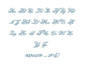 Carmen embroidery font formats bx (which converts to 17 machine formats), + pes, Sizes 0.50 (1/2), 0.75 (3/4), 1, 1.5 and 2""