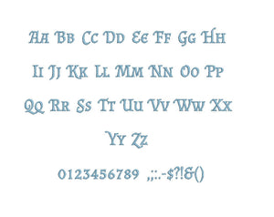 Osborg embroidery font formats bx (which converts to 17 machine formats), + pes, Sizes 0.50 (1/2), 0.75 (3/4), 1, 1.5 and 2""