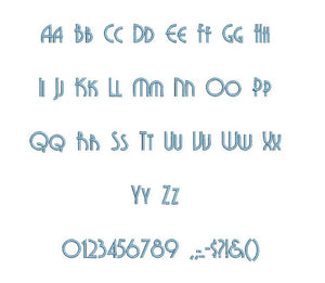 Titanium embroidery font formats bx (which converts to 17 machine formats), + pes, Sizes 0.50 (1/2), 0.75 (3/4), 1, 1.5 and 2""