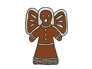 Angel Gingerbread embroidery design formats bx (17 machine formats), + pes, Sizes 3, 3.5, 3.8 (4x4 hoop), 4.5, 5, 5.5, and 6 inches