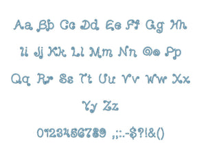 Arizona embroidery font formats bx (which converts to 17 machine formats), + pes, Sizes 0.25 (1/4), 0.50 (1/2), 1, 1.5 and 2""