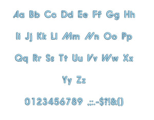 Wasabe font formats bx (which converts to 17 machine formats), + pes, Sizes 0.25 (1/4), 0.50 (1/2), 1, 1.5 and 2""