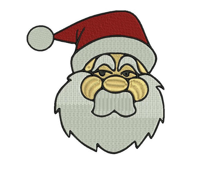 Santa Claus embroidery design formats bx (17 machine formats), + pes, Sizes 3, 3.5, 3.8 (4x4 hoop), 4.5, 5, 5.5, and 6 inches